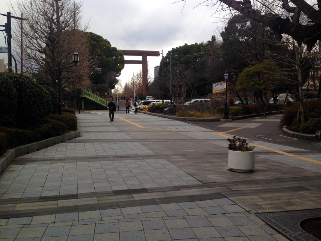 九段坂と靖国神社