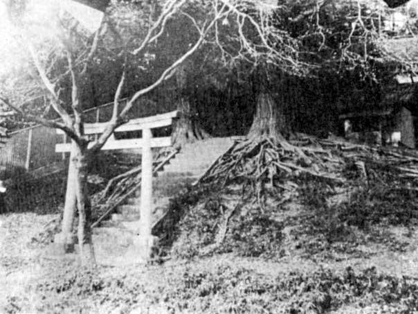 古写真:水神社(昭和初期と思われる写真)