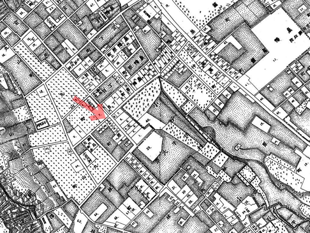 古地図:明治20年(1887年)東京実測図より千石の几号の位置
