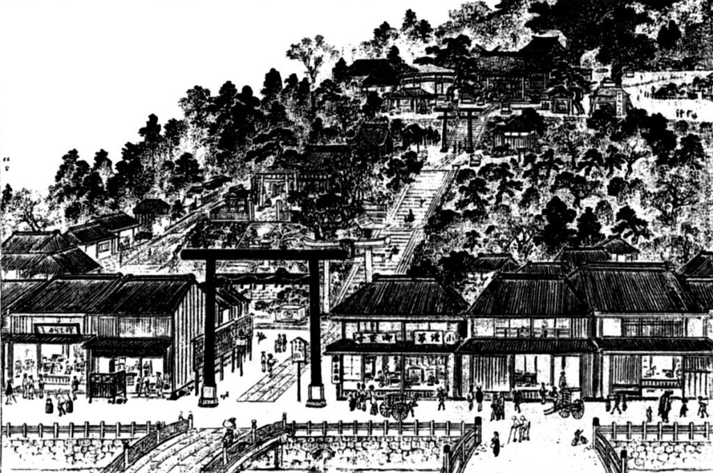 市谷八幡神社(明治東京名所図絵)