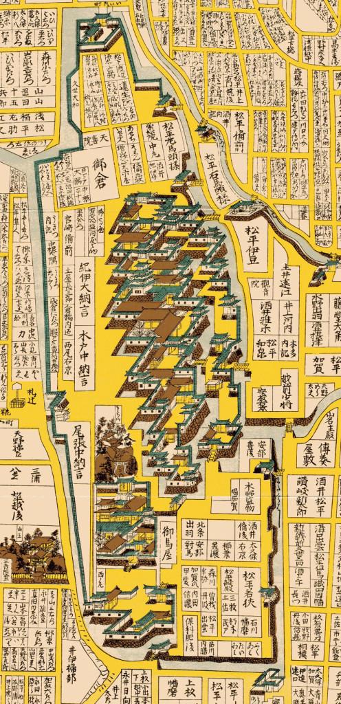 明暦新添江戸の図(1657年)