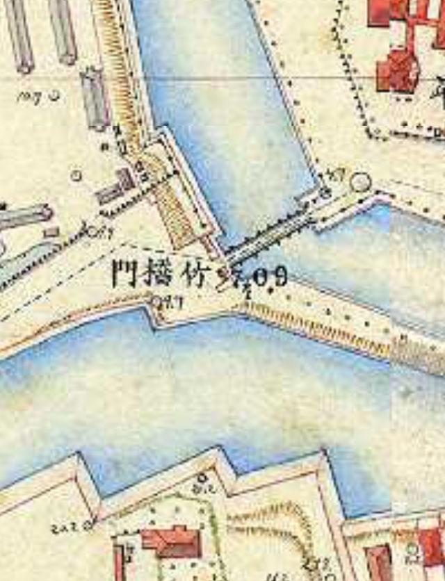 明治9-17年(1876-84年)5千分の1東京図測量原図より竹橋