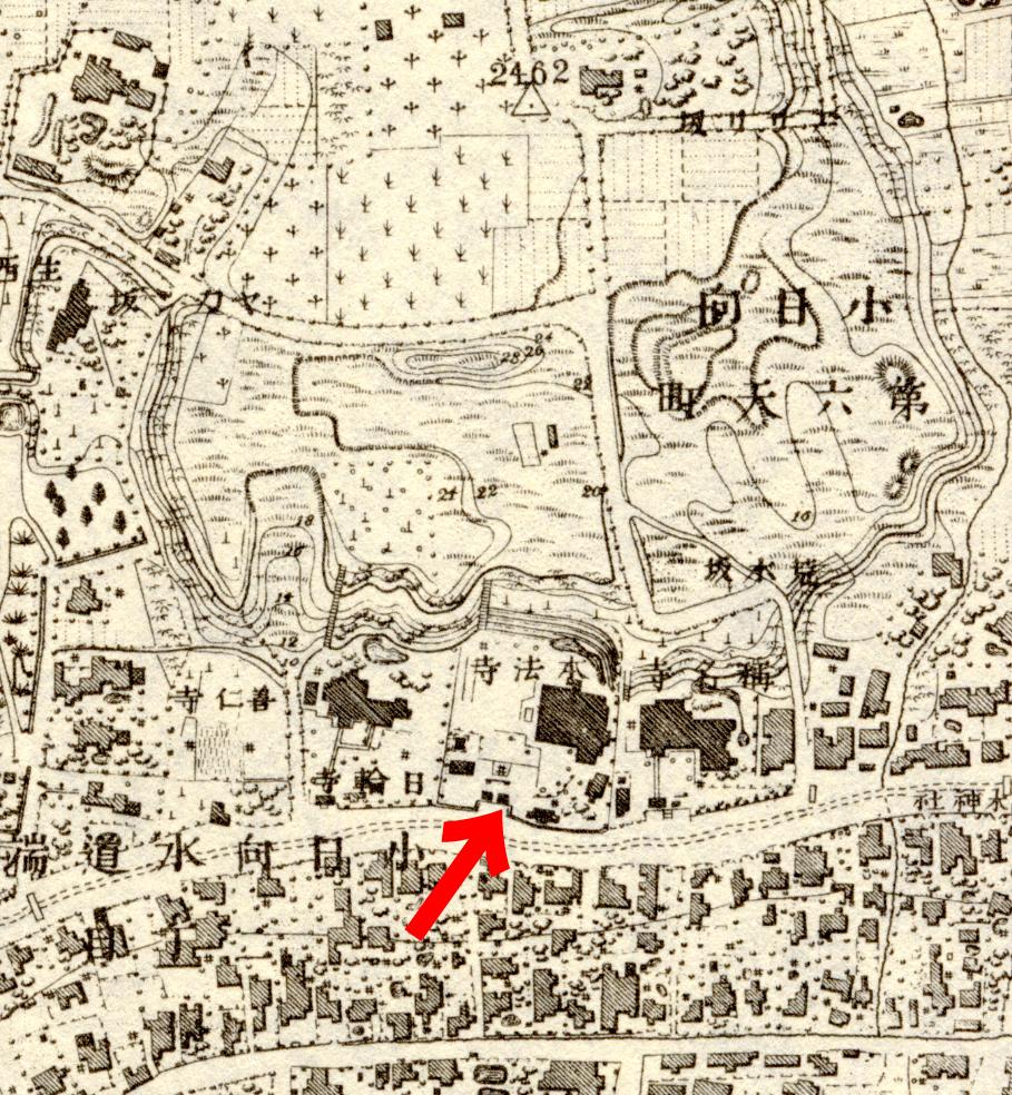 本法寺地図