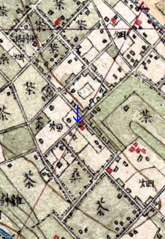 白山の几号水準点(明治の地図)