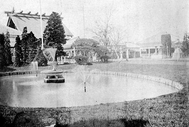 古写真:靖国神社の噴水池