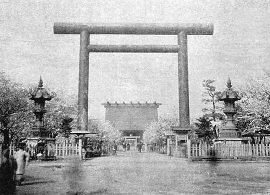 古写真:靖国神社二の鳥居