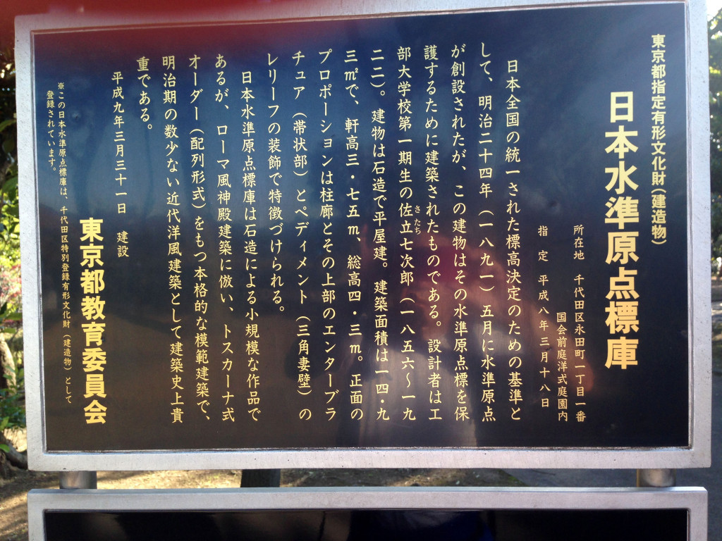 日本水準原点標庫