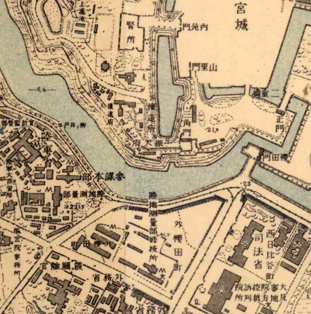 明治39年ごろの地図 陸地測量部修技所