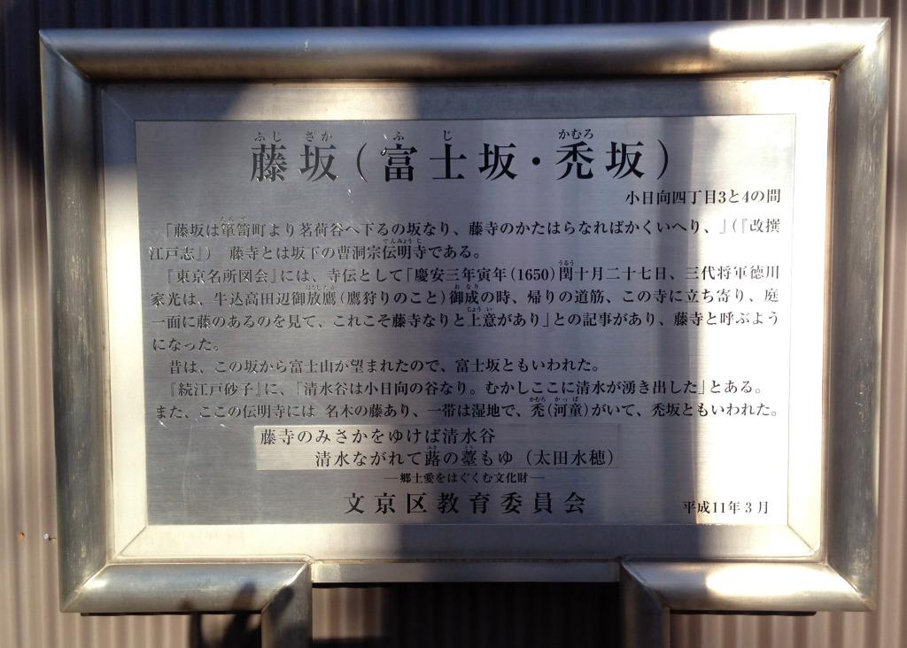 藤坂説明板