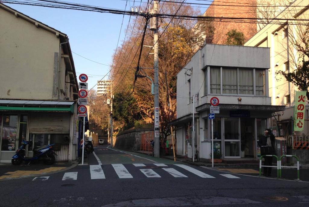 無名坂の入口