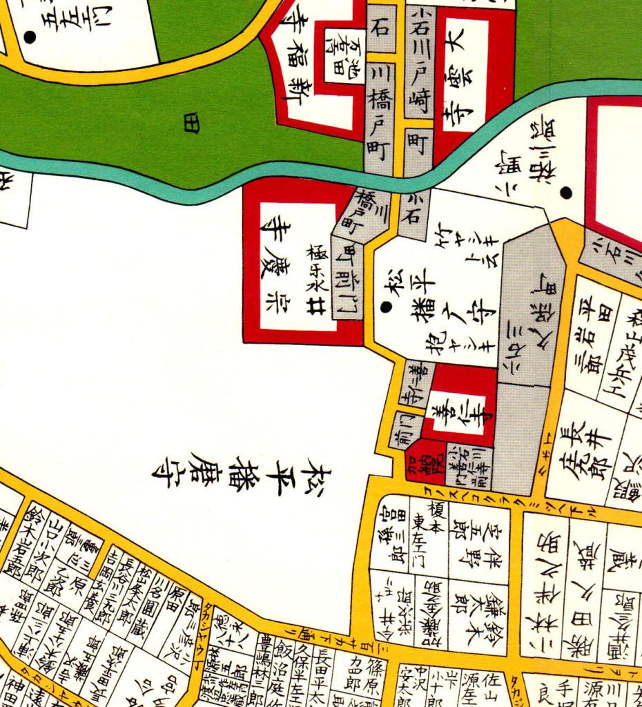 嘉永七年(1854年)尾張屋刊 江戸切絵図