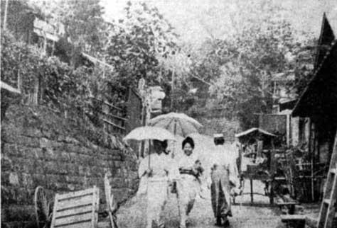 古写真:明治40年頃の金剛寺坂