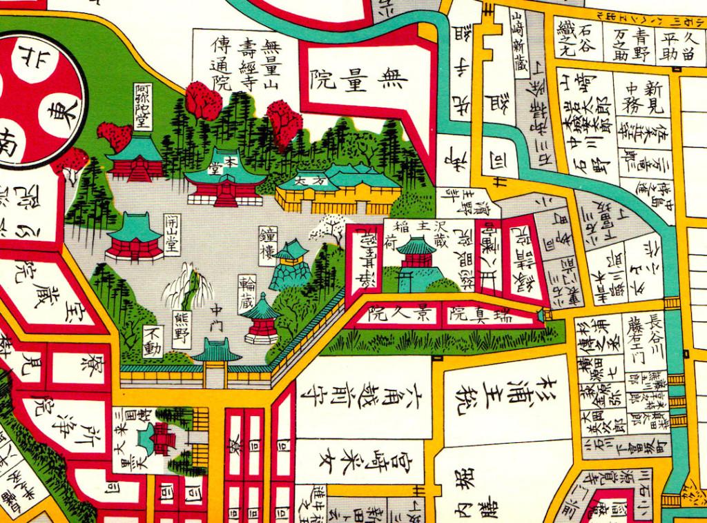 江戸切絵図(澤蔵司稲荷)