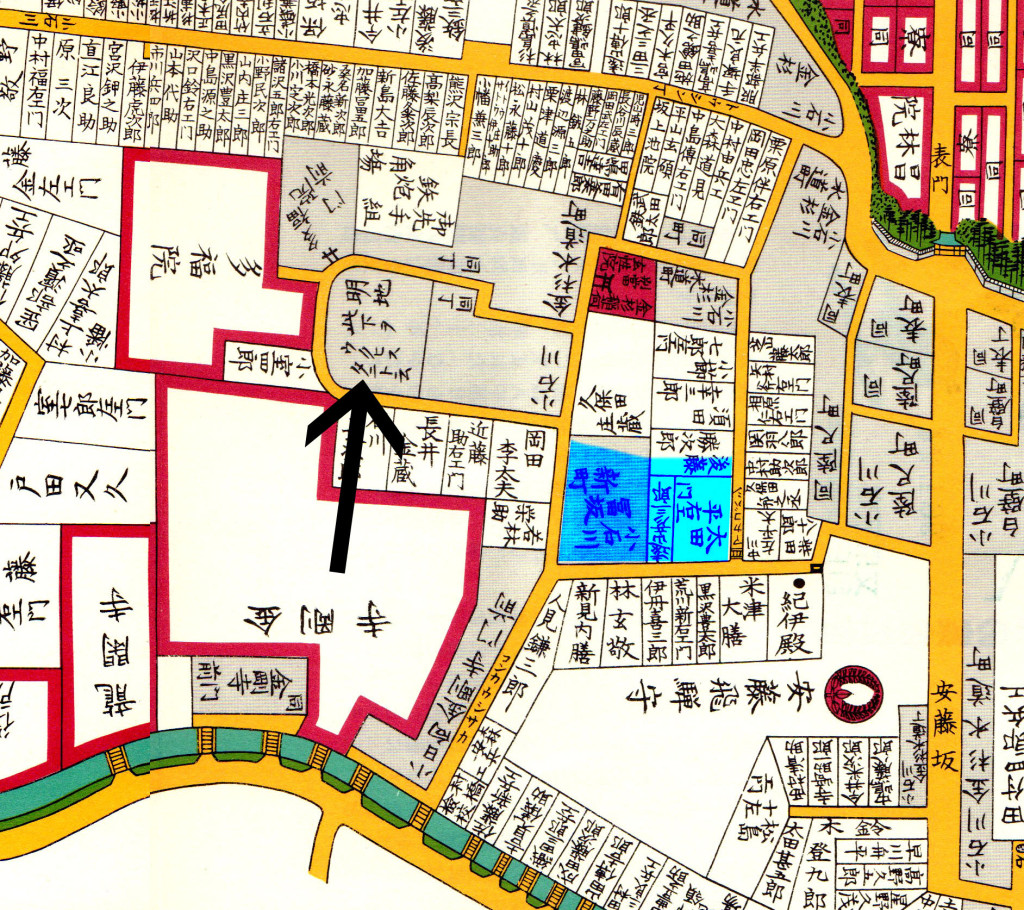 江戸切絵図(鶯谷)