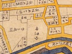 正保年中(1645-1648年)江戸絵図より金剛寺
