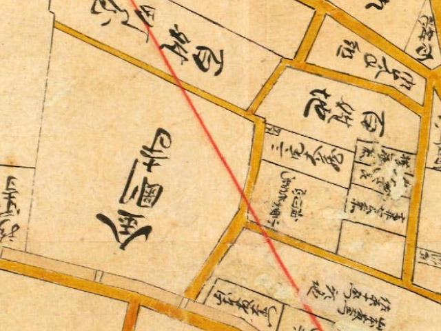 元禄年間(1688-1703年)江戸大絵図より金剛寺