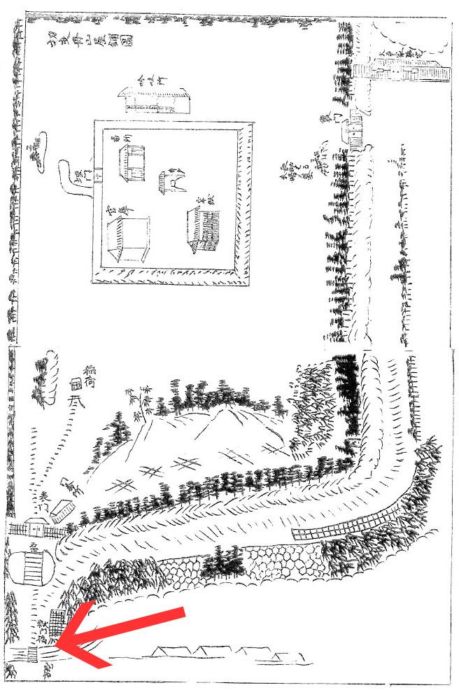 キリシタン屋敷図