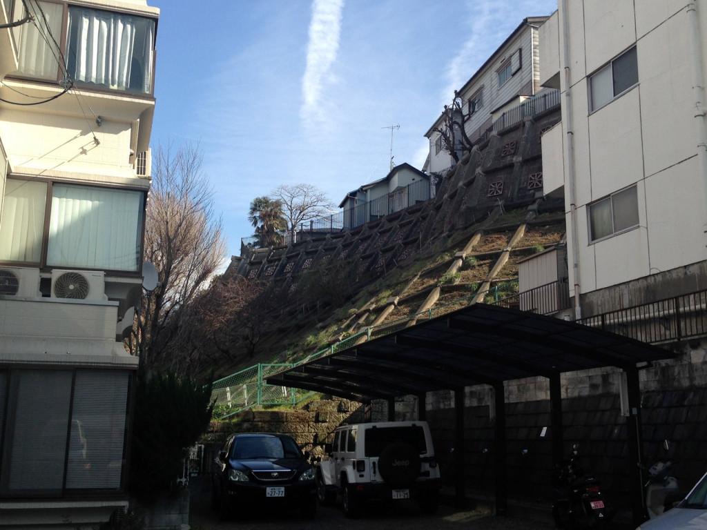 崖上が赤城神社