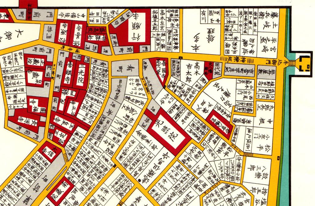 古地図:江戸切絵図(神楽坂周辺)