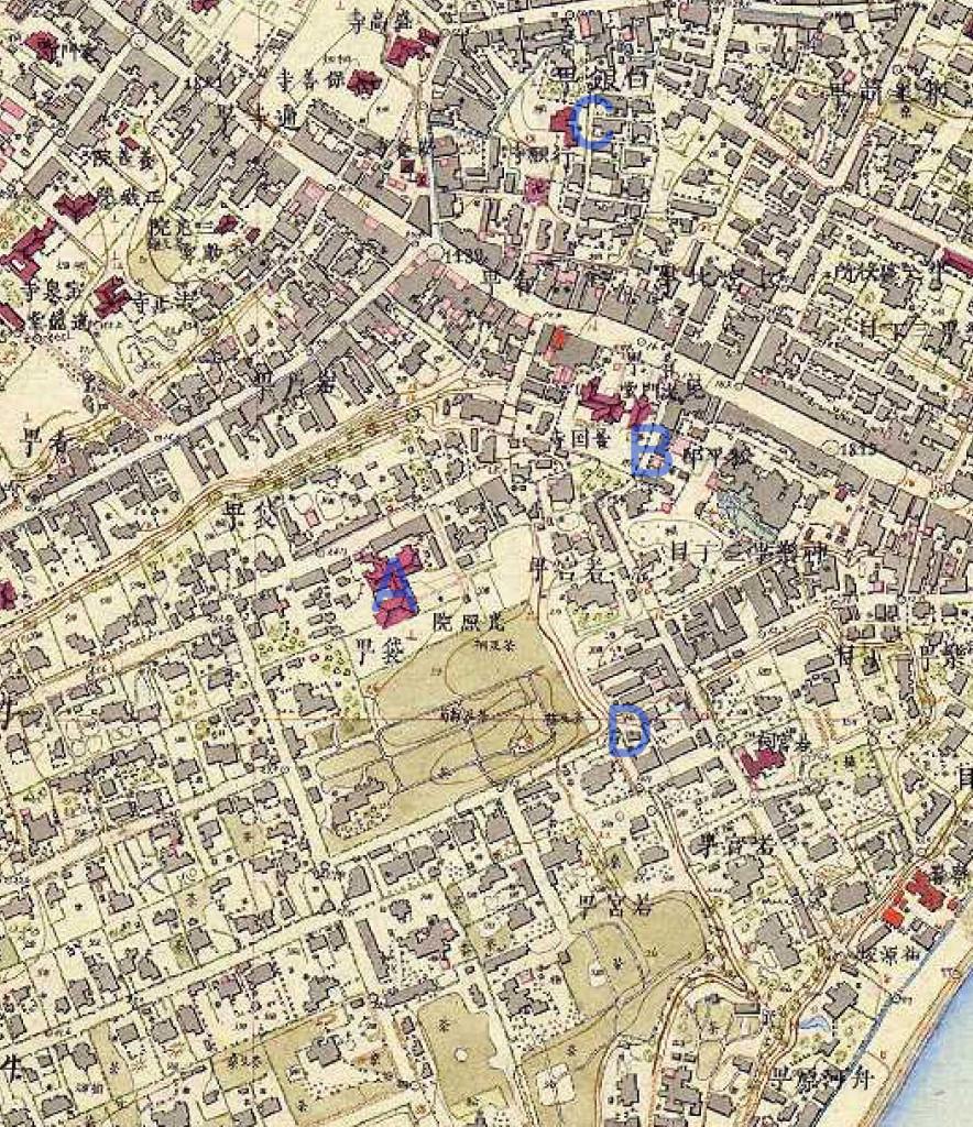 古地図:牛込城跡の考察