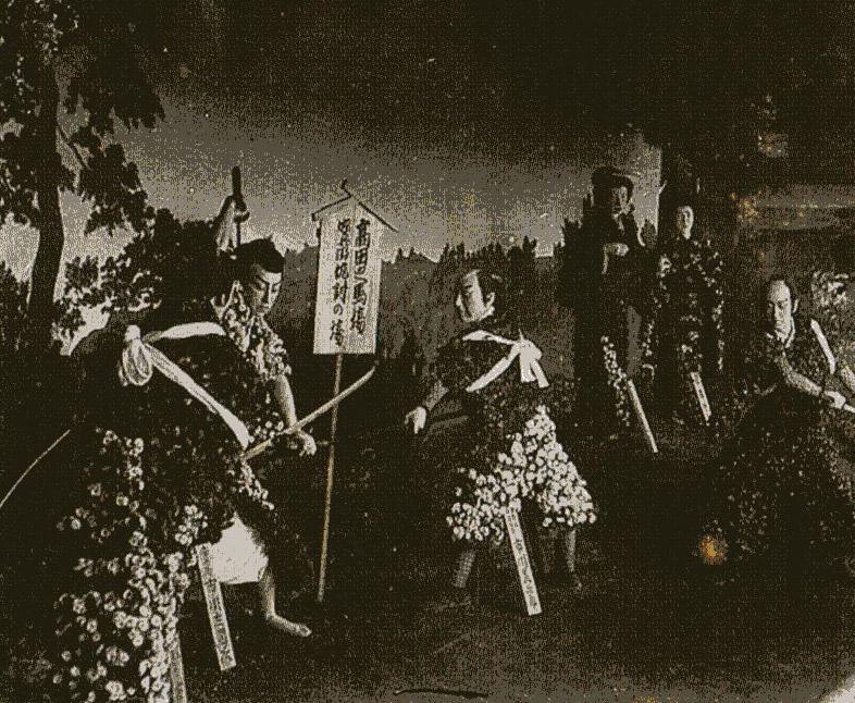 古写真:菊人形(高田の馬場の決闘)