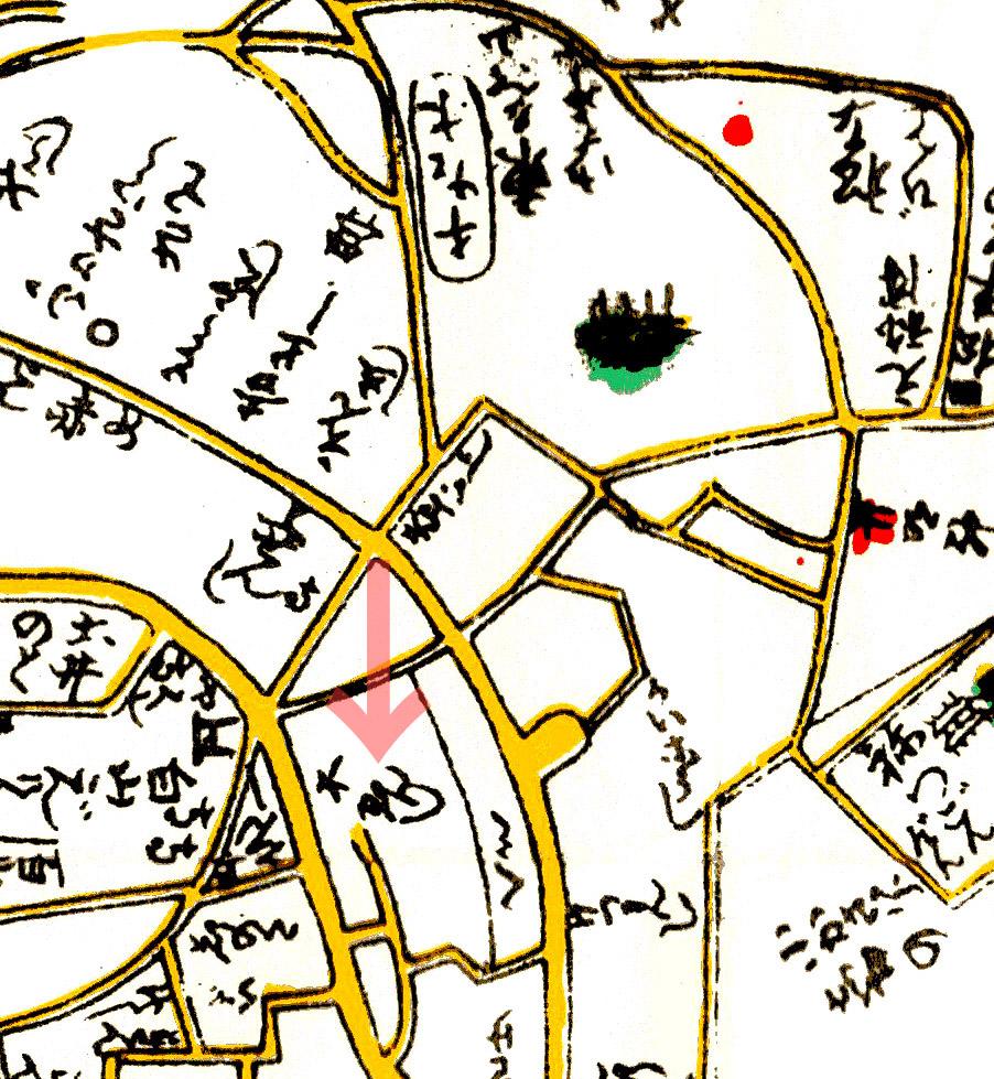 大円寺周辺(寛政新版江戸安見図1797年)
