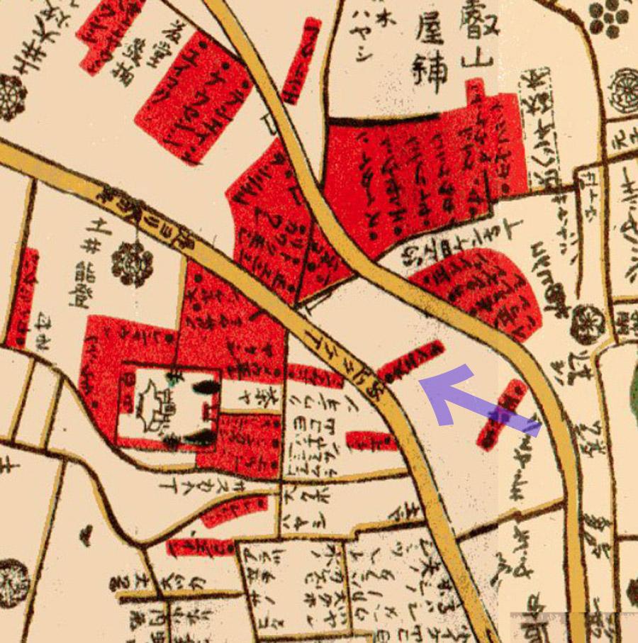 大円寺周辺(明和江戸図1771年)