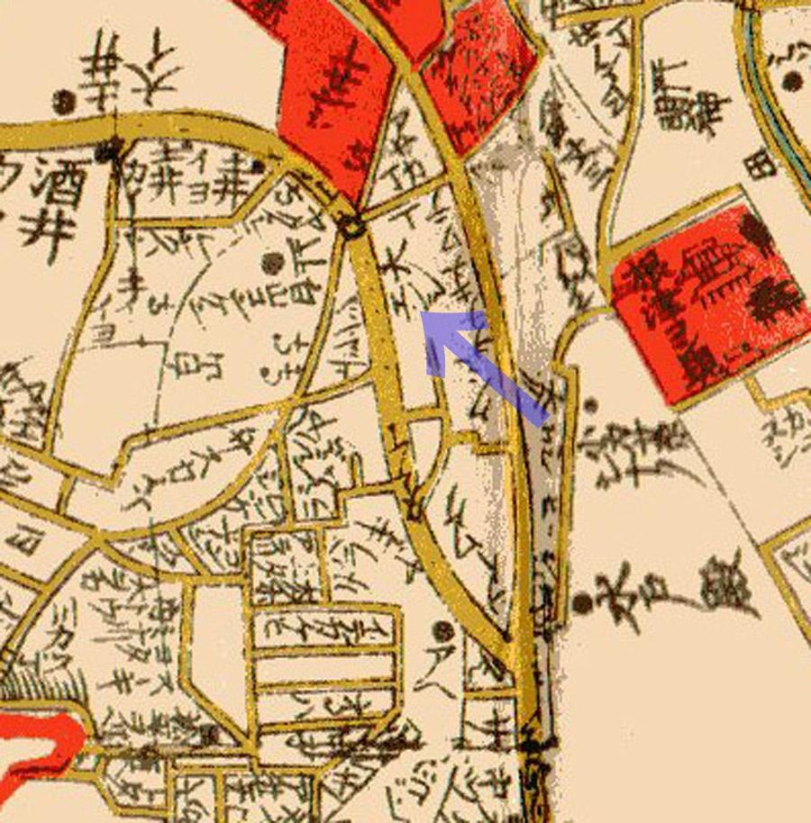 大円寺周辺(文化江戸図1811年)