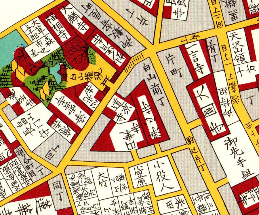 大円寺周辺(尾張屋刊江戸切絵図1854年)