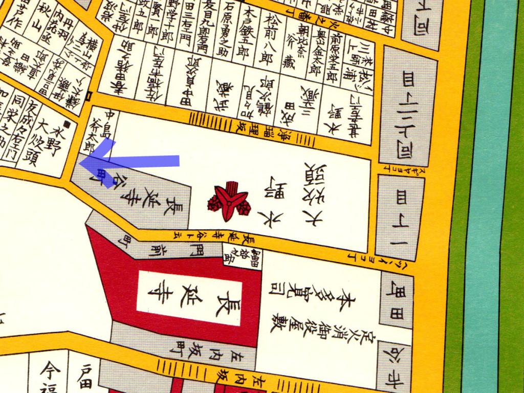 古地図:嘉永七年(1854年)江戸切絵図