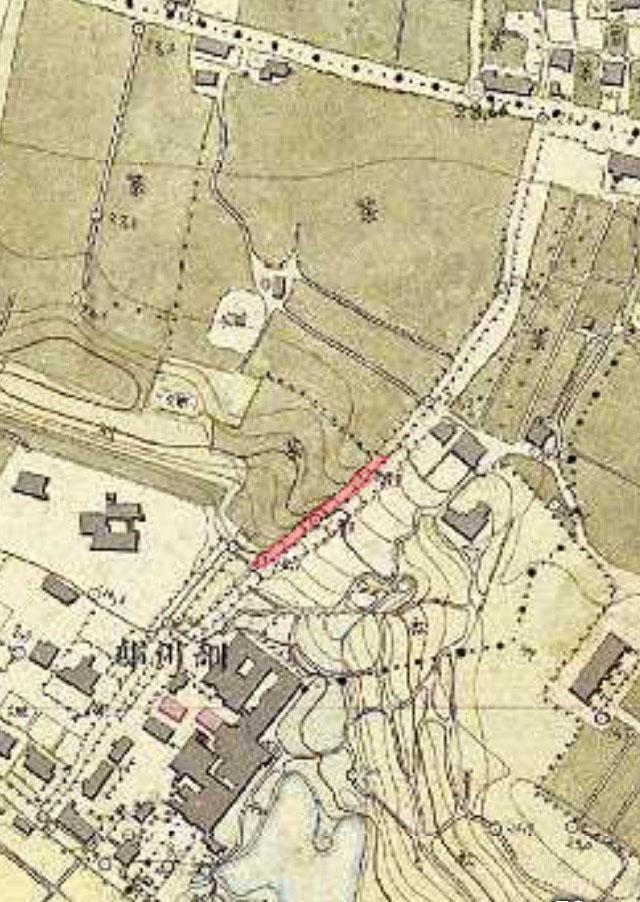 明治9-17年(1876-84年)5千分の1東京図測量原図より