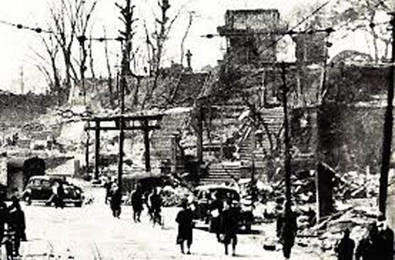 古写真:戦後の筑土明神と筑土八幡