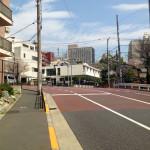 文京区安藤坂の大きなカーブ