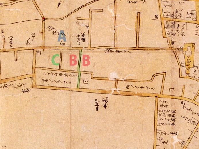 古地図:寛文10-13年(1670-73))新版江戸大絵図