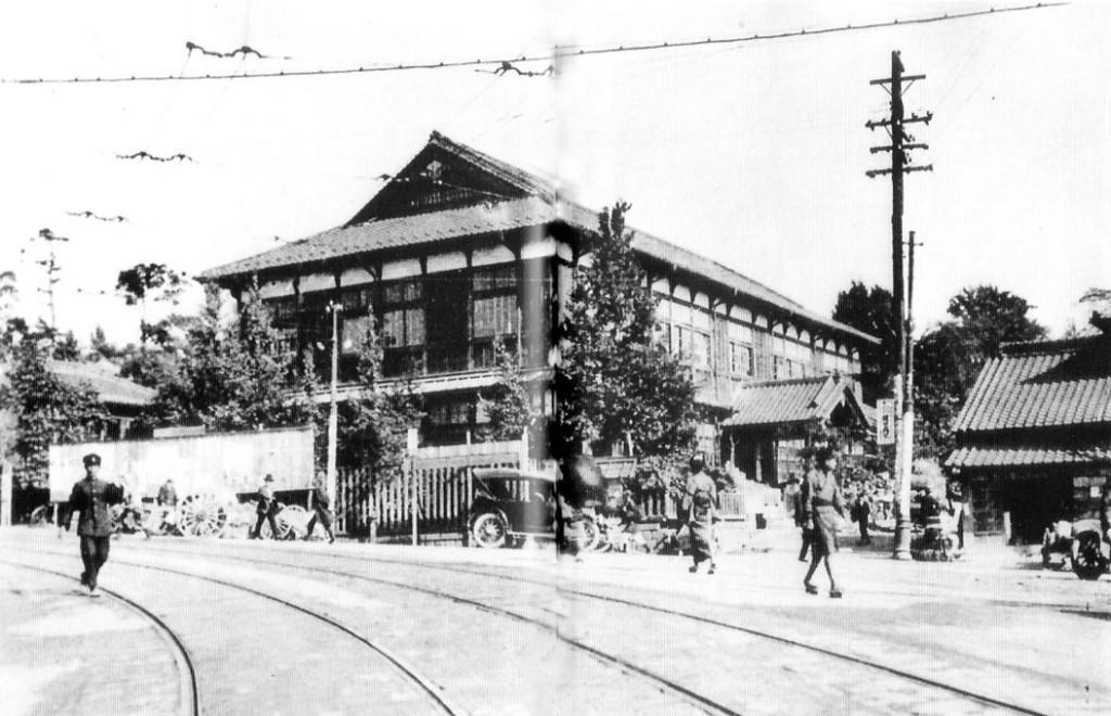 古写真:大正8年頃の安藤坂の小石川区役所