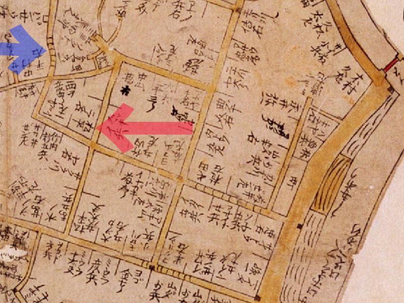 古地図:御殿坂:新版江戸大絵図寛文10-13年(1670-73))より