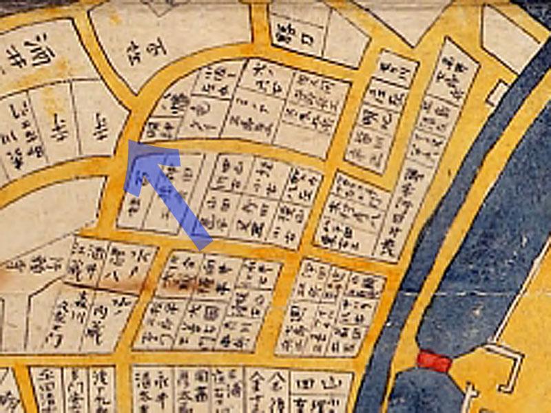 古地図:御殿坂:正保年中江戸絵図(1645〜1648年)より