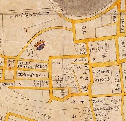 正保年中(1645〜1648年)江戸絵図