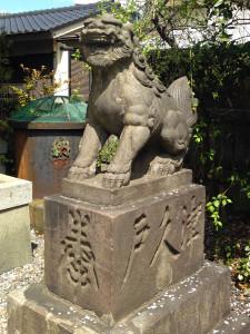 筑土八幡の狛犬