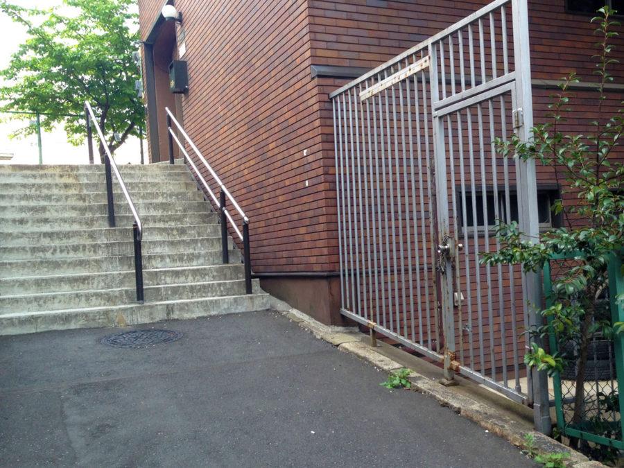 立爪坂の階段と坂