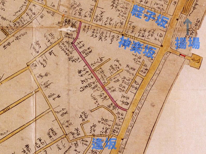 寛文10-13年(1670-73))新版江戸大絵図より