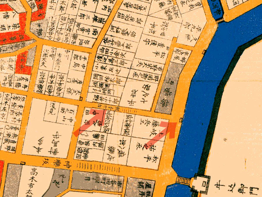 古地図:嘉永6年1853年尾張屋刊江戸切絵図より