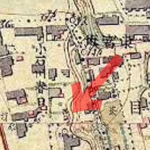 明治9-17年(1876-84年)5千分の1東京図測量原図より稲荷