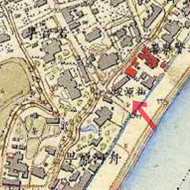 古地図:祐源坂(明治9-17年(1876-84年)5千分の1東京図測量原図より)