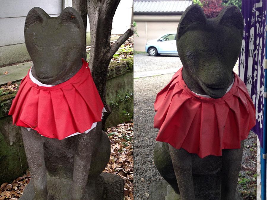 吹上稲荷神社の狐