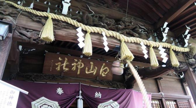 紫陽花祭りの白山神社と薬師坂
