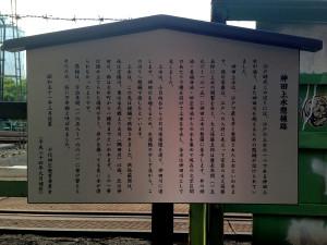 千代田区側の懸桶説明板
