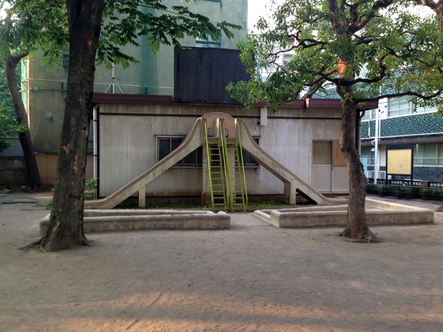 対称形滑り台