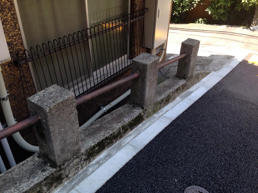 旧東富坂のガードレール