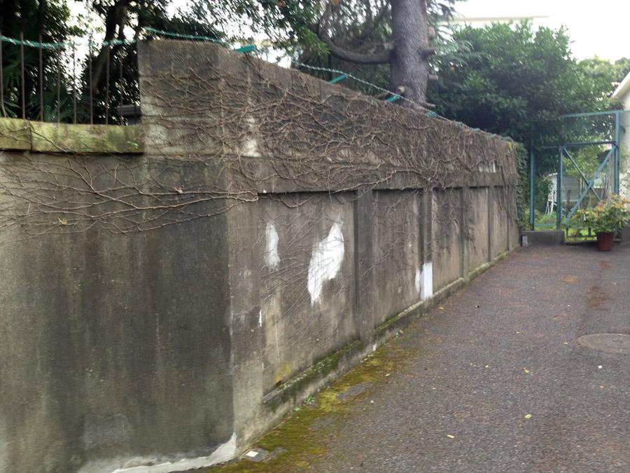 御茶ノ水女子大学裏手の陸軍の擁壁
